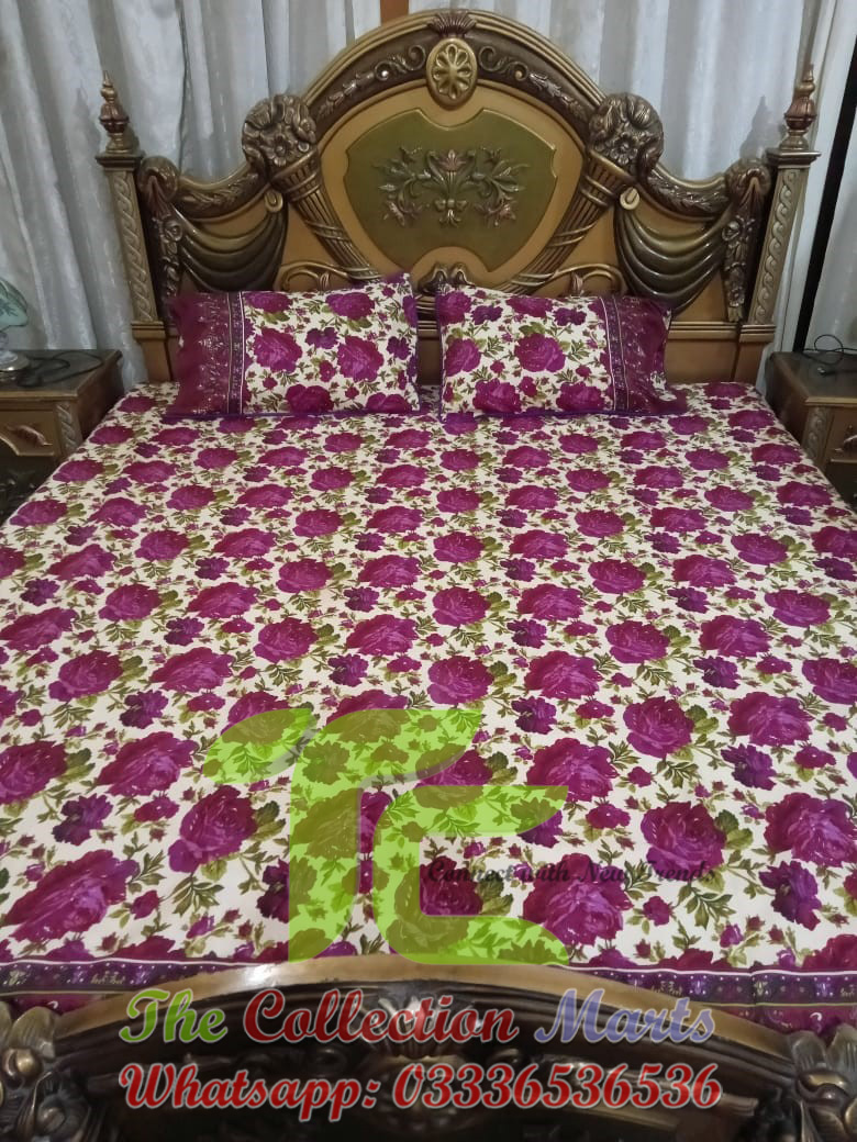 double bed bedsheet cotton